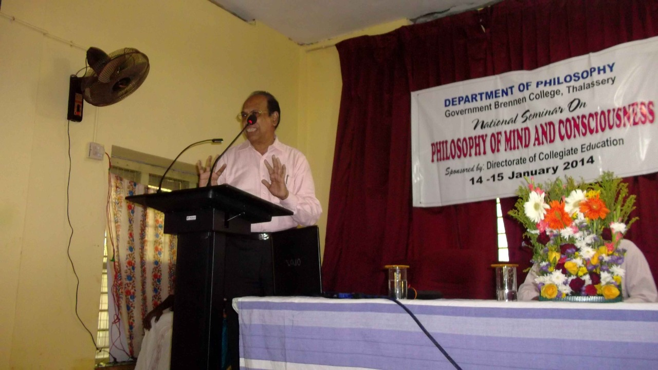 Prof. A Kanthamany inaugurating the Seminar on 14 Jan 2014.